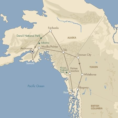Alaska & Yukon Highlights map