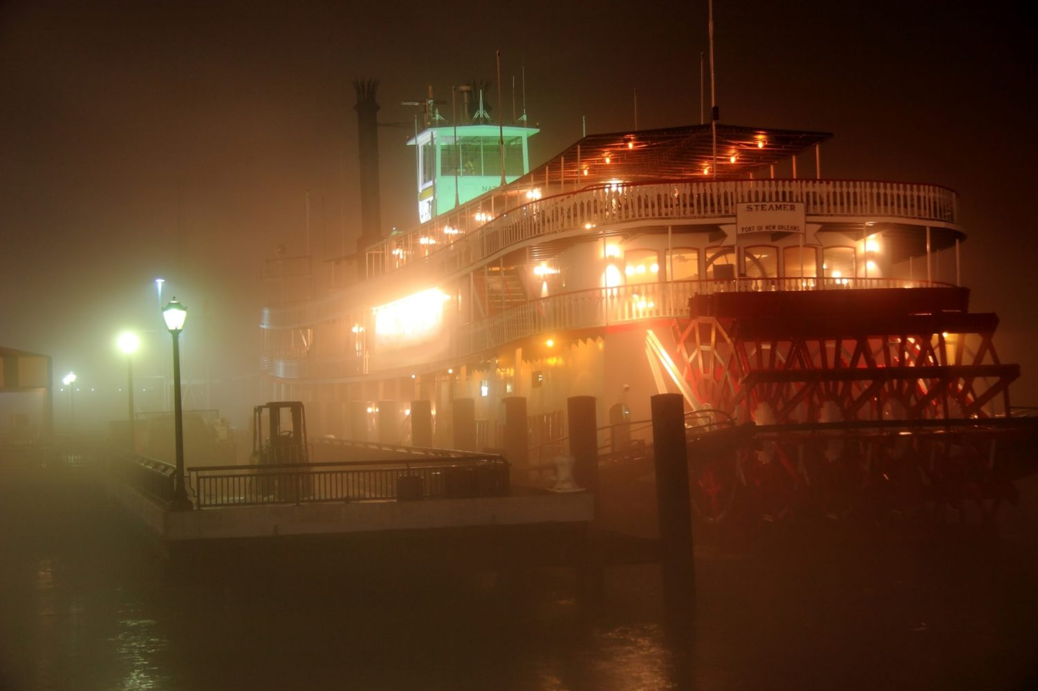 Steam paddle boat in the Deep South