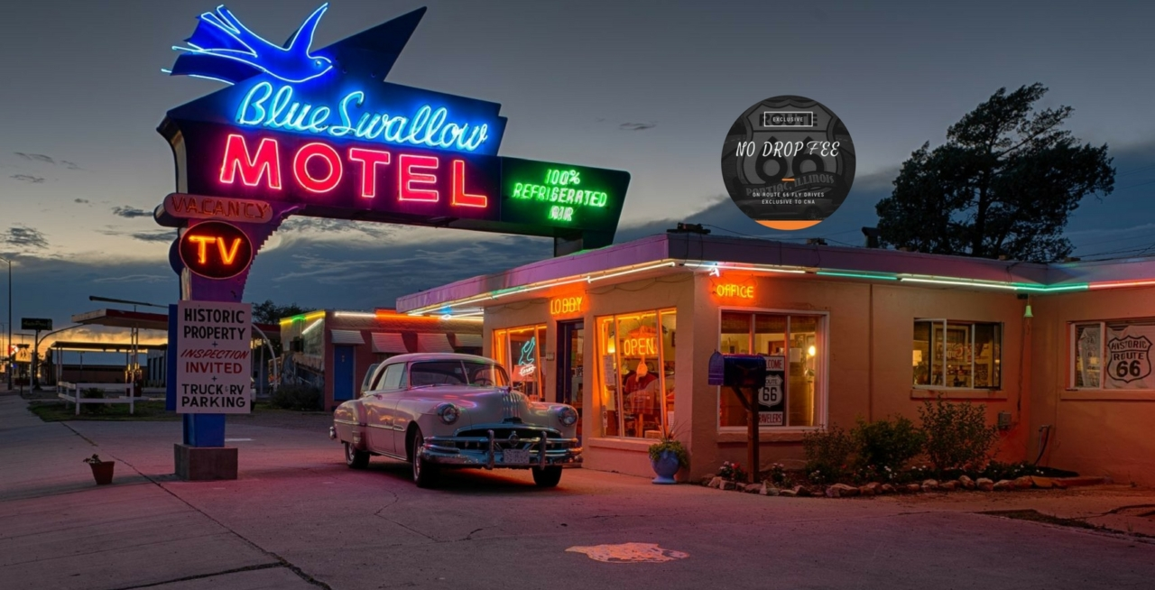 Blue Swallow Motel on Route 66