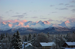 Chugach Mountains from Anchorage