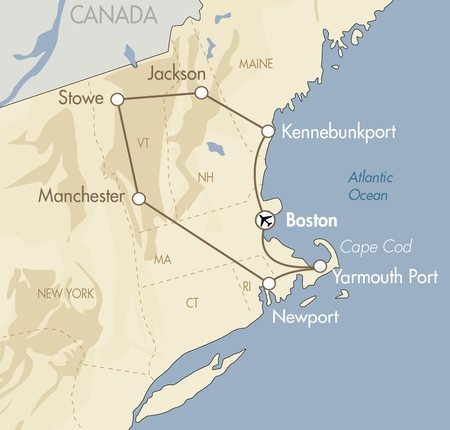 Inns of New England map