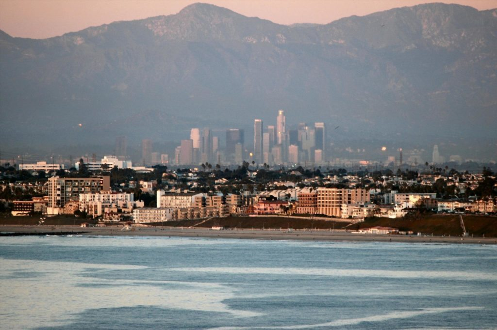 Los Angeles, View of Downtown from Redondo Beach