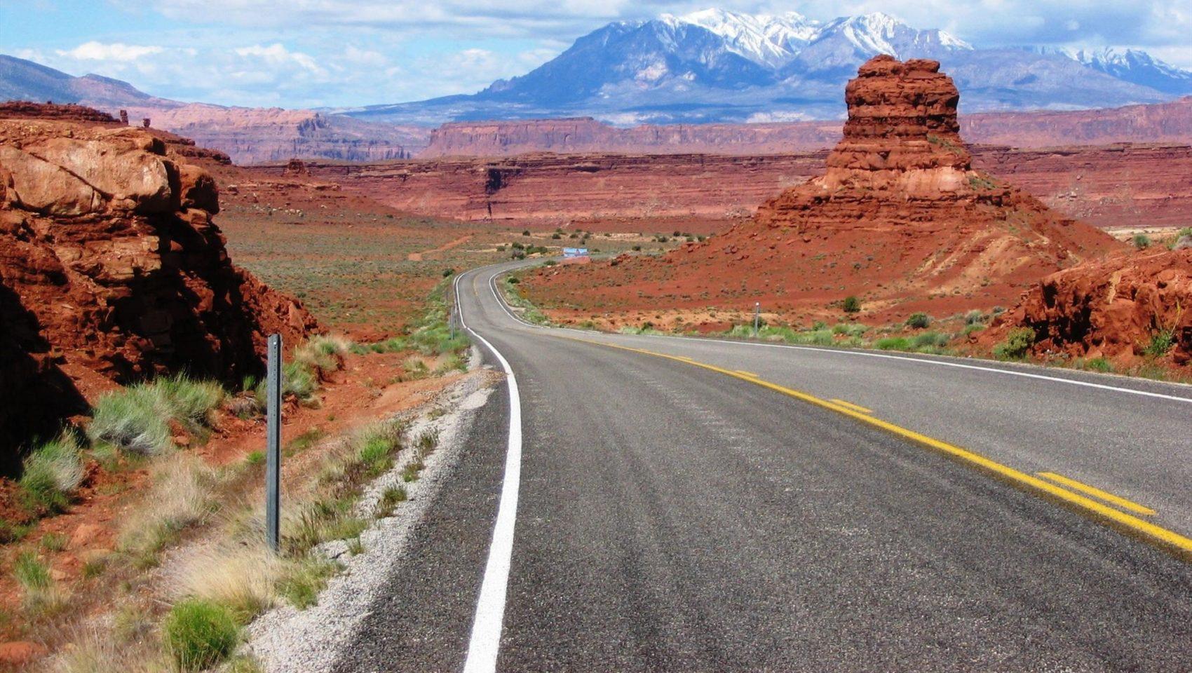 Road into Moab, Utah
