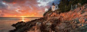 New England Coast Sunset USA