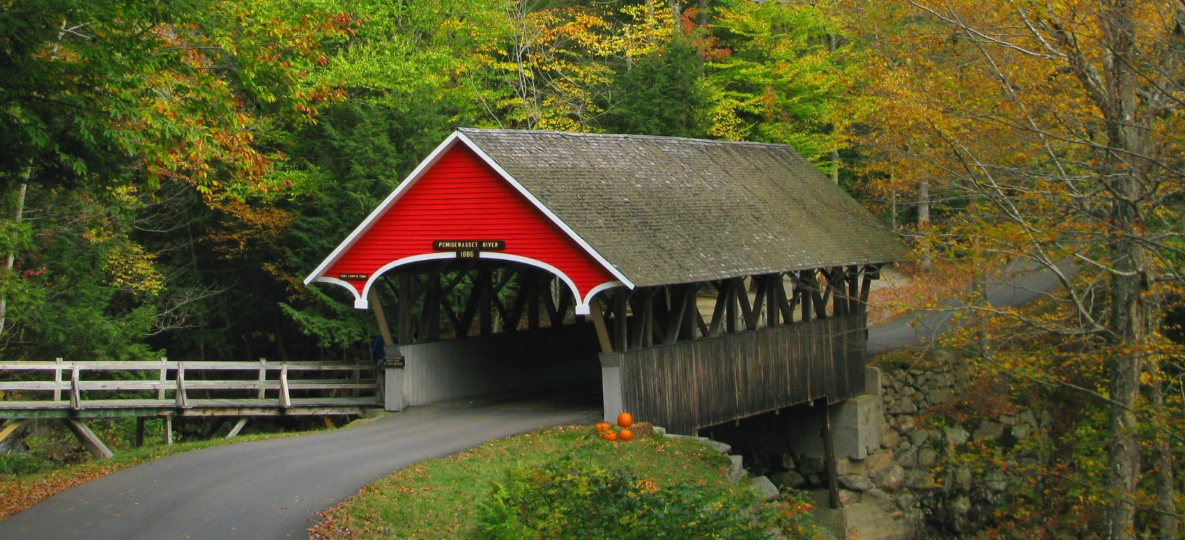 Covered bridge in New England