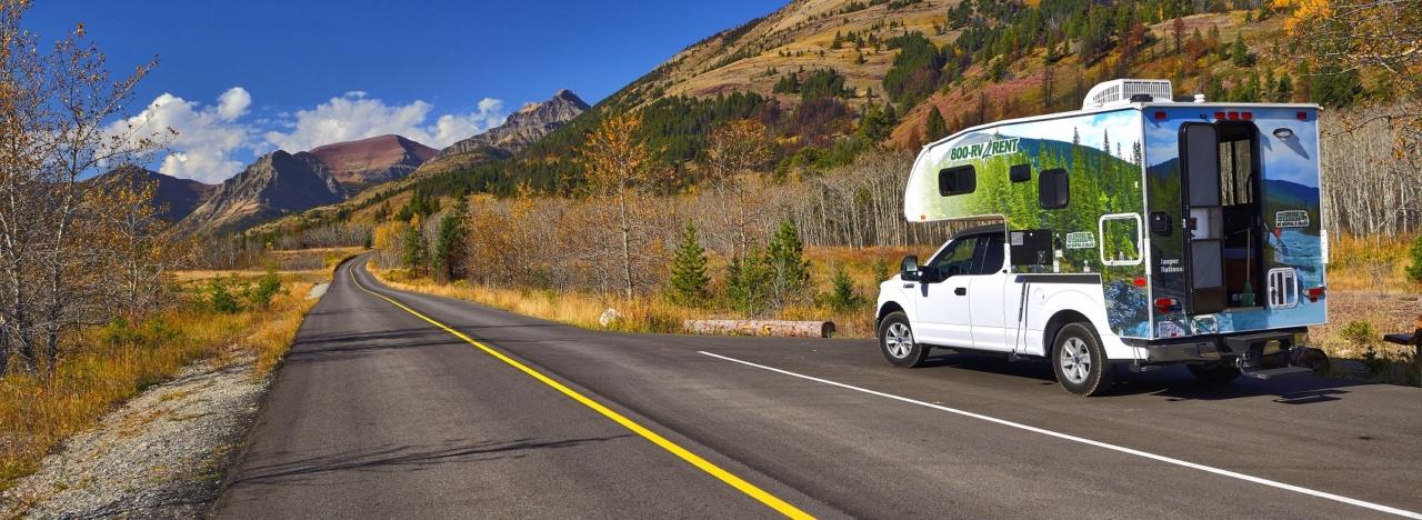 Small motorhome rental in America