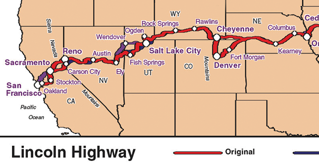 Lincoln Highway map