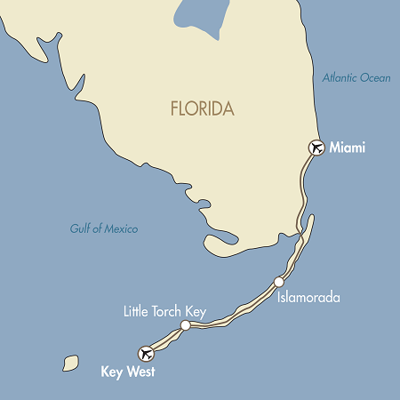 Map Of Florida Keys And Miami.Florida Keys Miami Fly Drive Complete North America