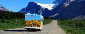 Motorhome in the Canadian Rockies