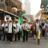 Mardi Gras on Bourbon Street in the French Quarter, New Orleans
