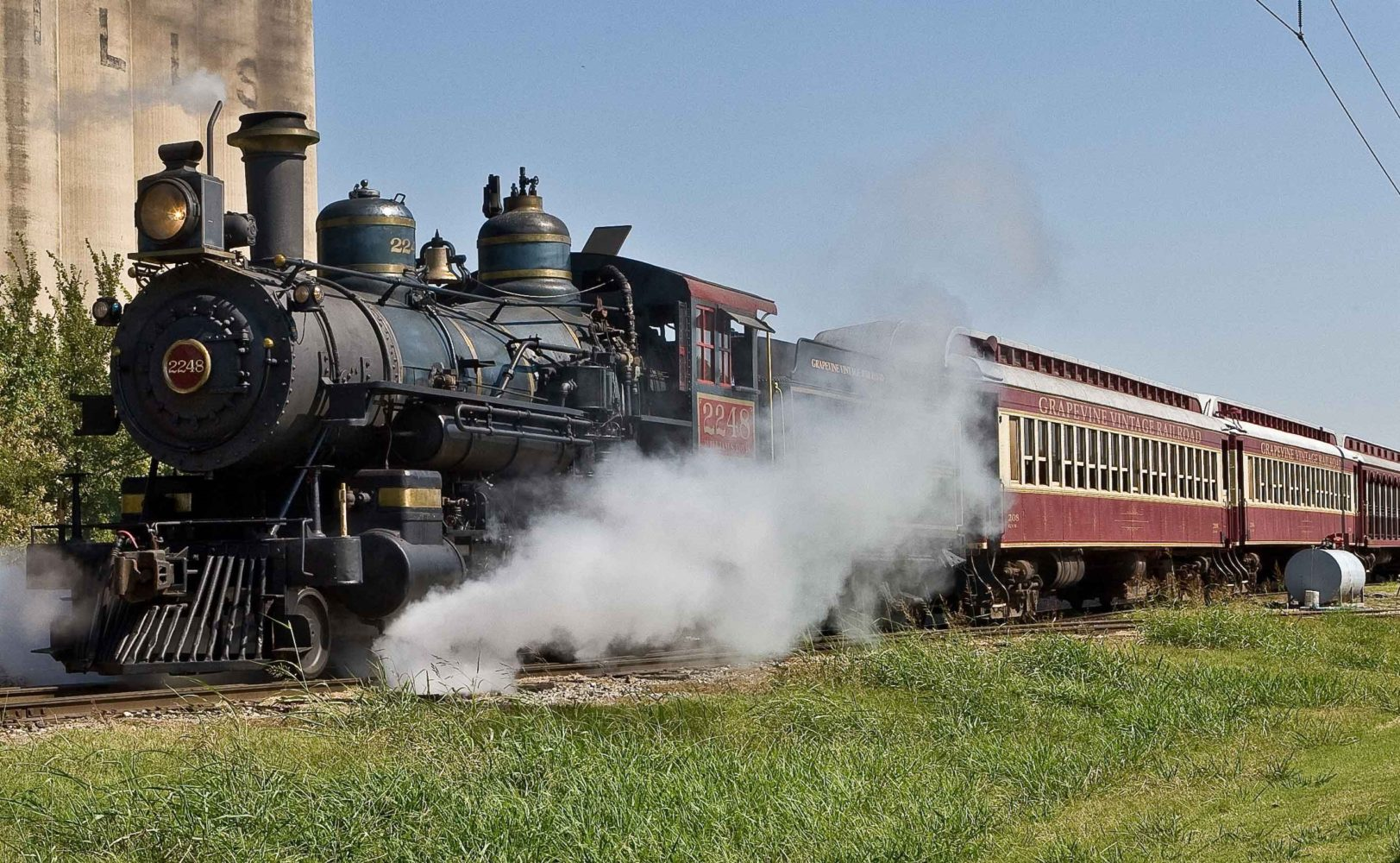 Steam train in Texas