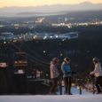 Friends at the top of Hilltop Ski Area in Anchorage