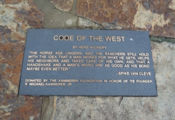 Code of the West Placque