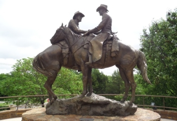 Code of the West Statue Oklahoma