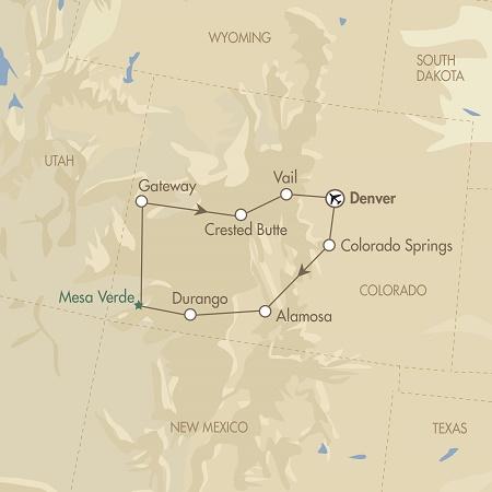 Captivating Colorado map