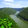 Overlook of the New River at Hawks Nest State Park in Fayette County, West Virginia.