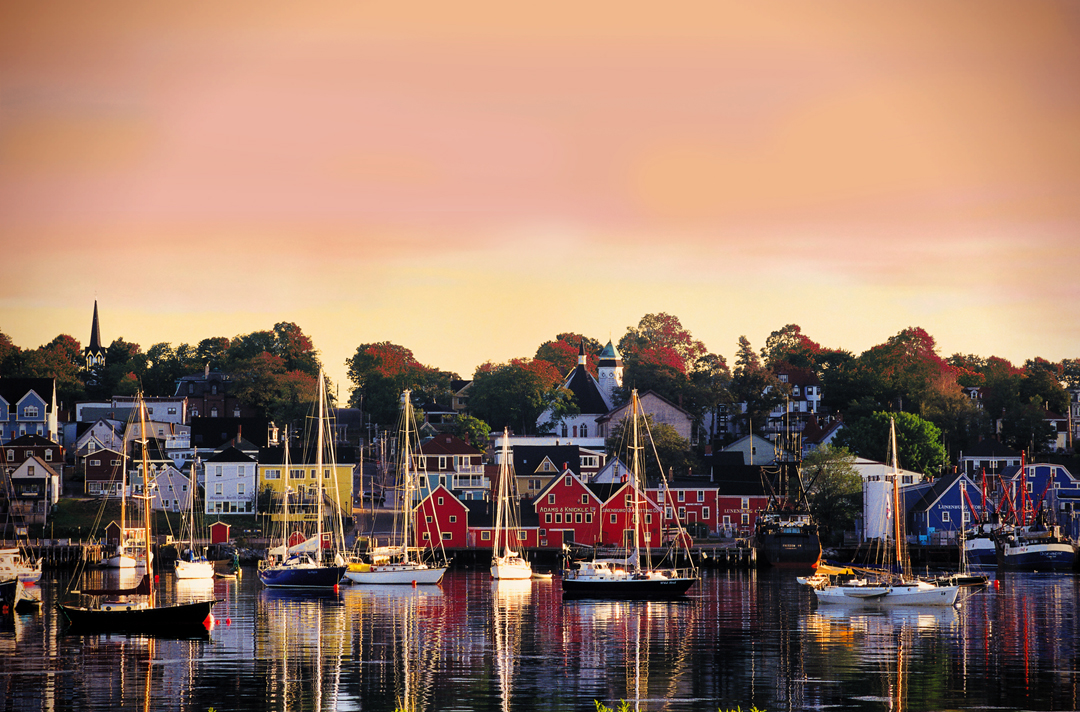 Lunenburg Harbour in the fall