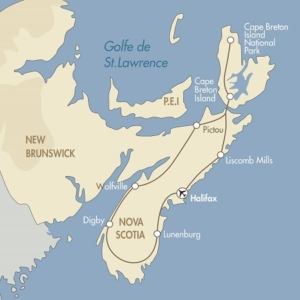 Nova Scotia fly drive map
