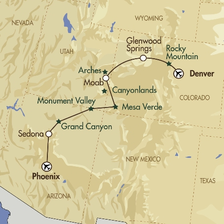 Rockies to the Canyonlands map