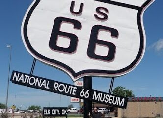 Route 66 sign Elk city
