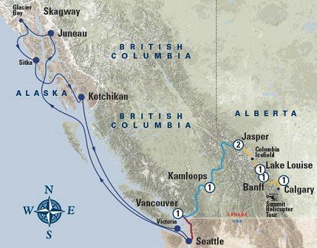Western Explorer Coastal Passage map
