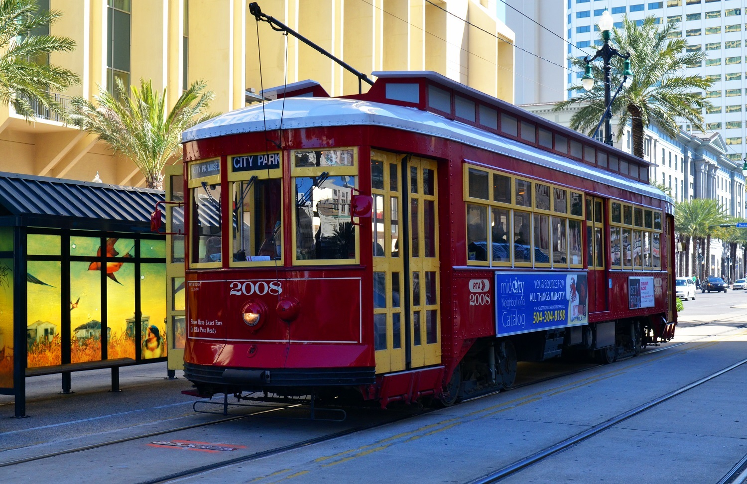 Tram New Orleans Louisiana holidays