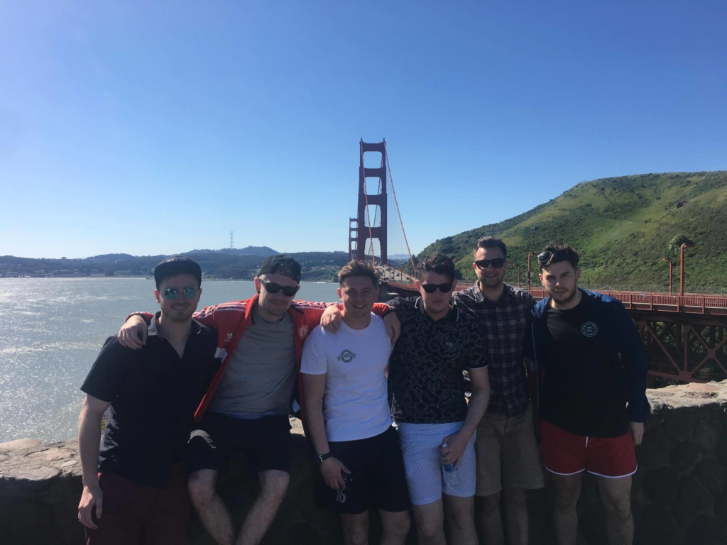 Group photo, road tripping around California