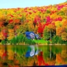 Maine Fall Foliage across a lake