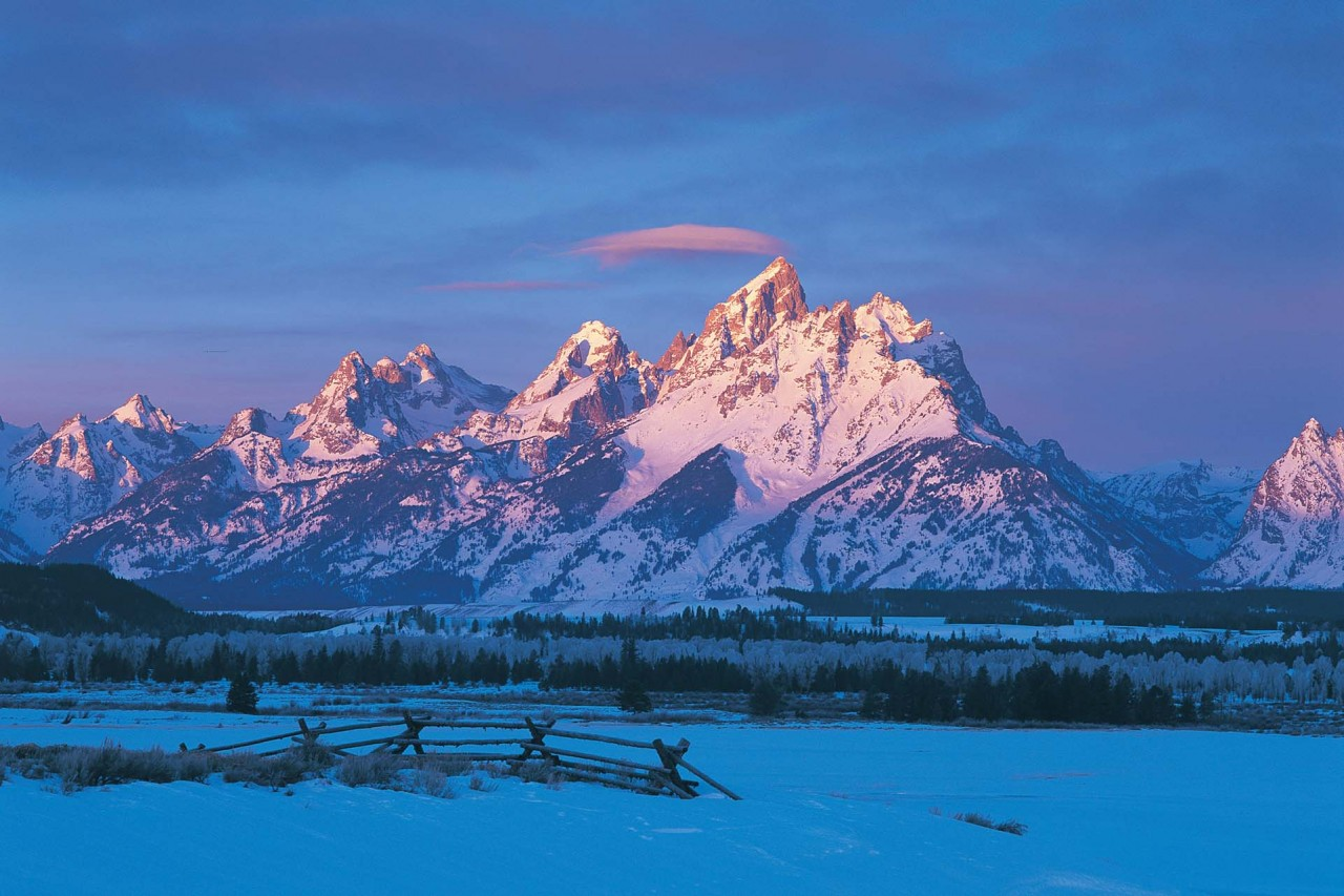 Jackson Hole, Wyoming in winter