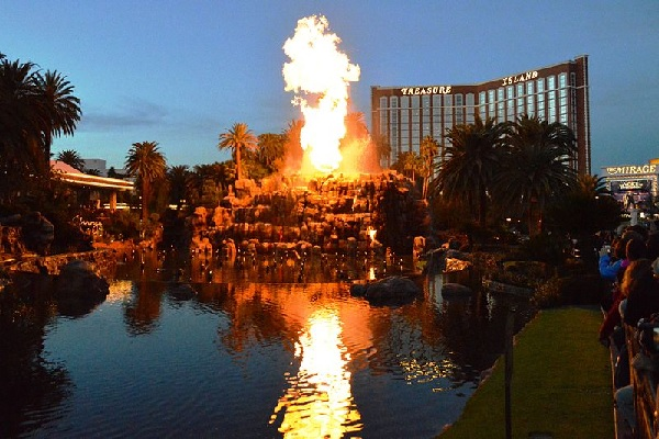 Volcano show at The Mirage in Las Vegas