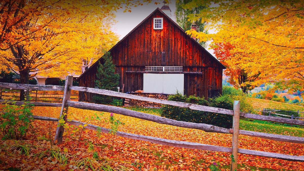 Woodstock, Vermont in New England
