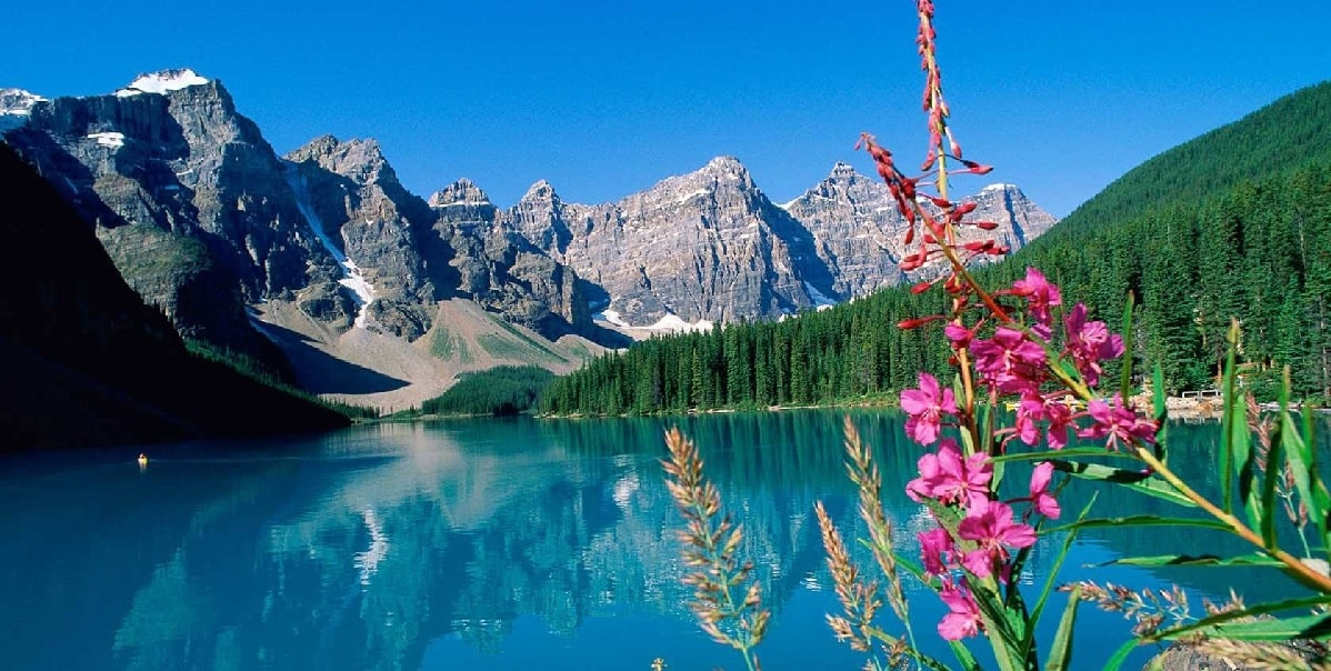 Lake Moraine in Banff National Park