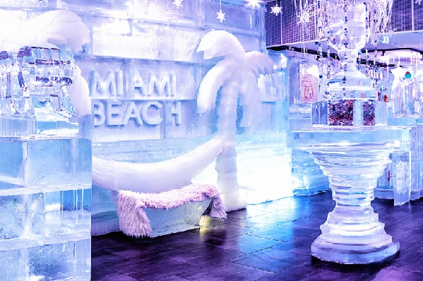 Miami Beach Ice and Fire bar
