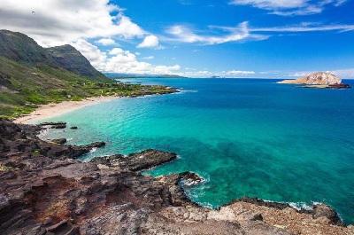Secluded Oahu beach