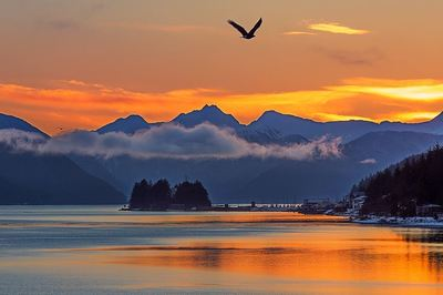 Sunrise in Juneau, Alaska