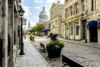 Cobbled streets of historic Quebec City