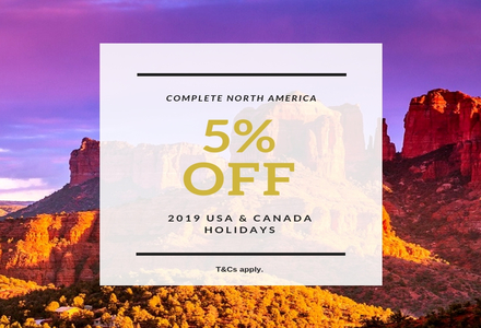 5% off USA & Canada holidays