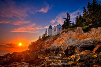 Acadia National Park at sunset
